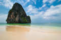 Free Tropical Beach Landscape With Rock Formation Island And Ocean Stock Photos - 30370483
