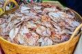 Free Sea Food At Market. Dry Calamari Stock Photography - 30370502