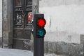Free Traffic Light On Street Royalty Free Stock Photo - 30372795