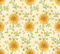 Free Pattern With Watercolor Flowers Stock Images - 30375704