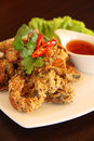 Free Deep Fried Soft Shell Crab Garlic And Pepper Meal Stock Image - 30376401