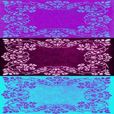 Free Abstract Floral Motif Collage In Turquoise Violet And Purple Colors Royalty Free Stock Photography - 30371887