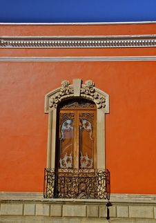 Free Detail Of Red Mexican Colonial House Stock Photos - 30371993