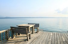 Free Table And Chairs On A Beach Resort Royalty Free Stock Images - 30372139