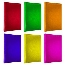 Colorful Books Cover Isolated On White Stock Images