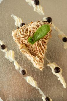 Free Piece Of Vanilla Cake Stock Image - 30375801