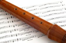 Free Woden Flute Royalty Free Stock Photo - 30376255