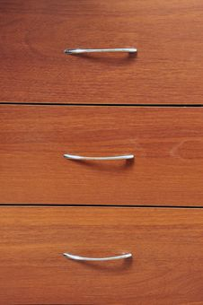 Free Wooden Cabinet. Stock Photography - 30376482