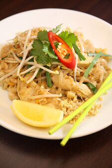 Free Pad Thai, Thai Signature Dish. Royalty Free Stock Photos - 30376528