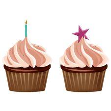 Free Delicious Happy Birthday Cupcakes Stock Photos - 30376623