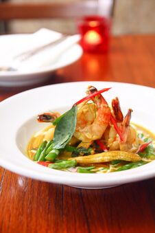Green Curry With Prawn, Thai Food. Stock Photography