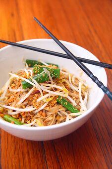 Free Pad Thai, Thai Signature Dish. Royalty Free Stock Image - 30377616