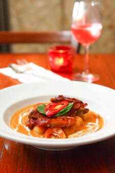 Free Roast Duck With Red Curry. Stock Photography - 30377752