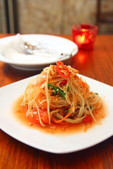 Free Papaya Salad Stock Images - 30377804