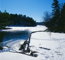 Winter On The St. Croix River Royalty Free Stock Photo