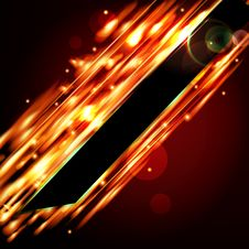 Fiery Background With Free Space For Your Text. Royalty Free Stock Photo