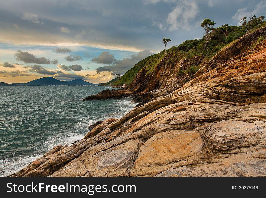Sunset seascape, Samed island