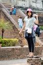 Free Asian Woman Enjoying At Buddhist Temple Royalty Free Stock Image - 30385666