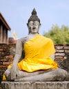 Free Ancient Buddha Statue At Wat Yai Chai Mongkol In Ayutthaya, Thai Stock Photography - 30385702