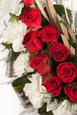 Free Bouquet Of Red And White Rose Flowers Royalty Free Stock Photography - 30385847