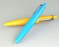 Free Yellow And Blue Ballpoint Pen Stock Photo - 30387570