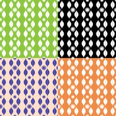 Set Of Seamless Patterns With Stripy Ornament Royalty Free Stock Photo