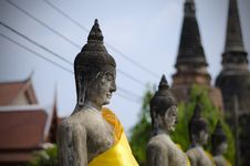 Free Ancient Buddha Statues In Ayutthaya, Thailand Stock Photo - 30385460