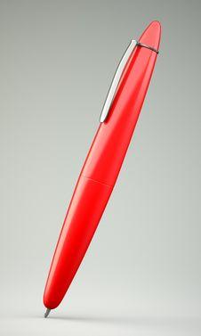 Free Red Ballpoint Pen Royalty Free Stock Image - 30387526