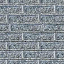 Seamless Texture Of Gray Decorative Bricks Wall. Stock Photos