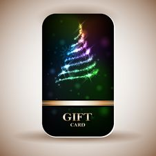 Free Gift Card With Ribbons Royalty Free Stock Images - 30394849