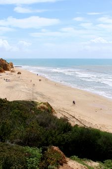 Free Western Algarve Beach Scenario, Portugal Royalty Free Stock Photos - 30398698