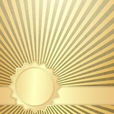 Free Old Grunge Paper With Gold Rays Stock Images - 30399904