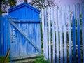 Free Blue Gate Royalty Free Stock Photos - 3042718