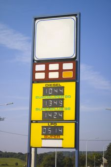 Fuel Prices Royalty Free Stock Image