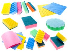 Free Color Napkins And Sponges Royalty Free Stock Images - 3040599