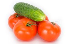 Free Tomatoes And Cucumbers Stock Photography - 3041002