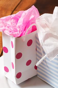Free Two Colorful Gift Bags Royalty Free Stock Photos - 3041998