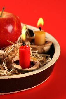Free Christmas Candlestick Stock Image - 3043281