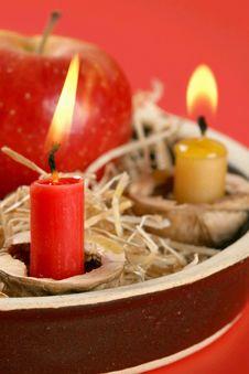 Free Christmas Candlestick Stock Photo - 3043330