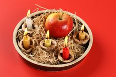 Free Christmas Candlestick Stock Image - 3043341