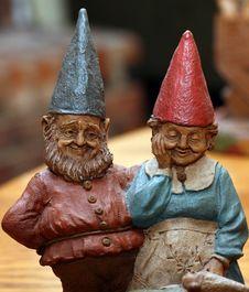 Free Man Woman Gnome Royalty Free Stock Photos - 3043438