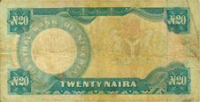 Old Paper Banknote Money Niger Royalty Free Stock Images