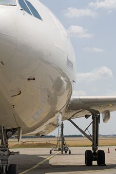 Modern Airplane, Front View Stock Photos