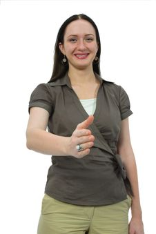 Free Woman To Shake Hands Stock Photos - 3046063