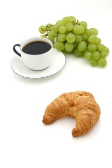 Free Croissant, Cup Of Coffee Royalty Free Stock Image - 3047306