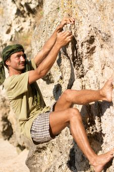 Free Rock Climber Royalty Free Stock Photo - 3047775