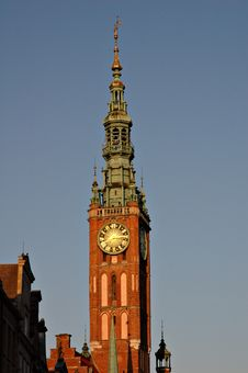 Main Town Hall,Gdansk,Poland Royalty Free Stock Images