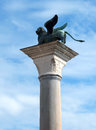 Free Venice - The Lion Of Venice On The Column Royalty Free Stock Image - 30408406