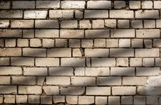 Diagonal Shadow Lines On Brick Wall Pattern Royalty Free Stock Photos
