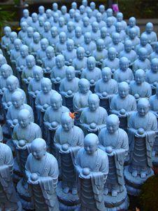 Free Small Blue Buddha Statues 2 Royalty Free Stock Photo - 30404325